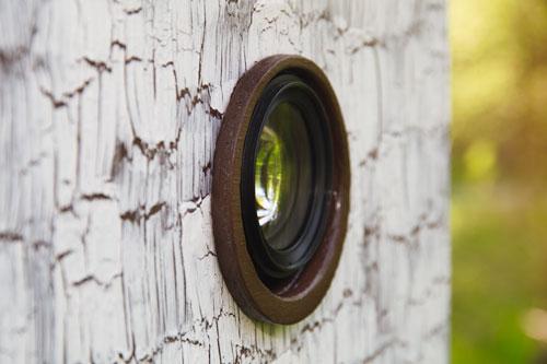 Fotobox Objektiv Detail